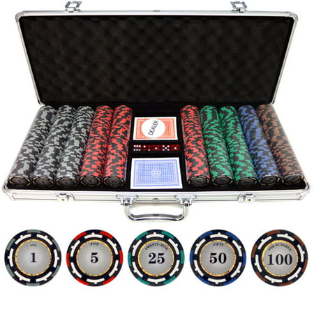 500 piece Z-Pro 13.5g Clay Poker Chips Double Suit Clay Poker Chip