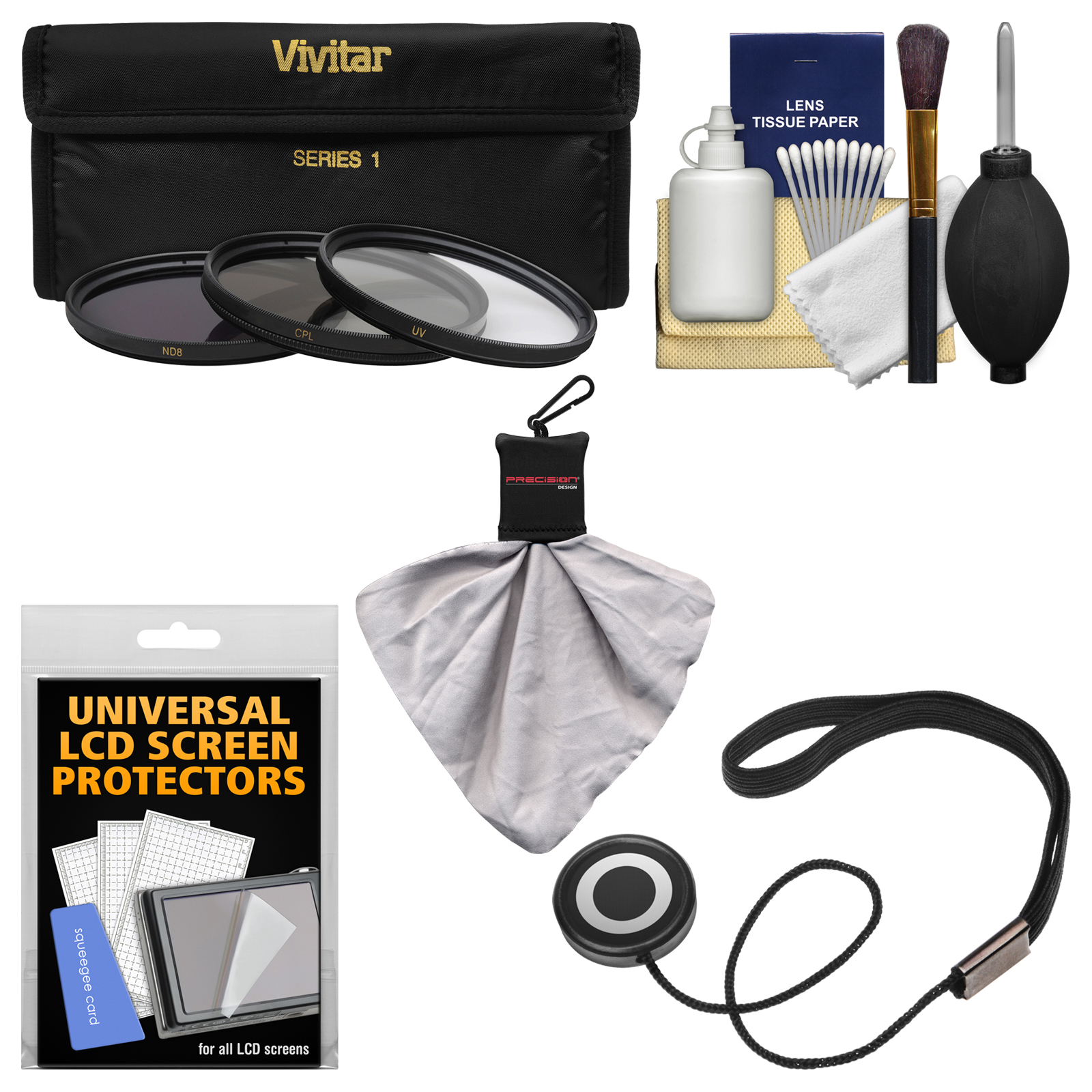 Essentials Bundle for Nikon 70-200mm f/2.8G VR II AF-S ED-IF Zoom-Nikkor Lens with 3 (UV/CPL/ND8) Filters + Accessory Kit