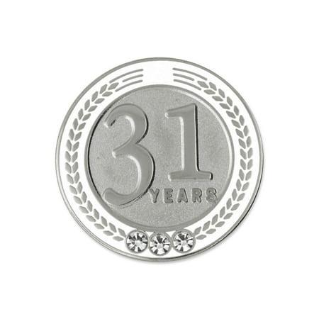 PinMart's 31 Years of Service Award Employee Recognition Gift Lapel Pin - - Employee Recognition Gifts