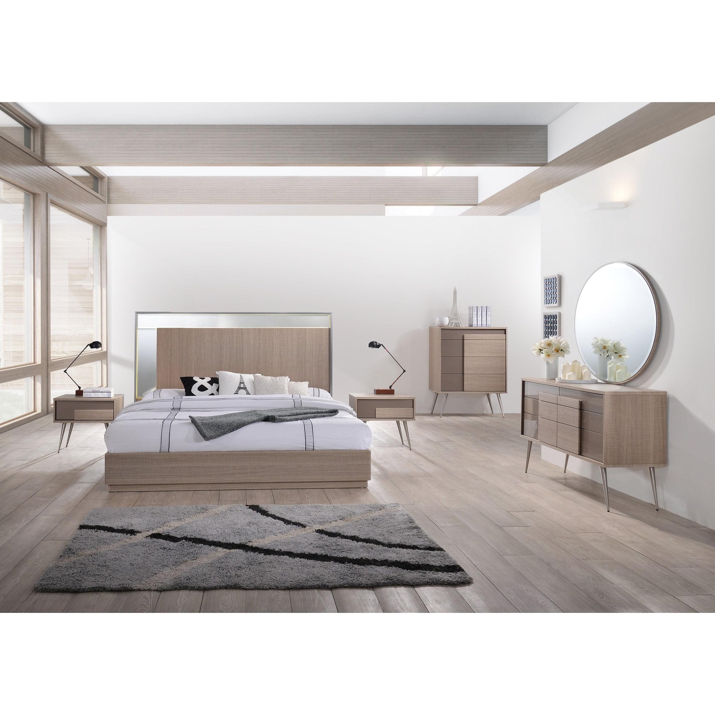Best Master Furniture Brazil Taupe Bronze 5 Pcs Bedroom Set King
