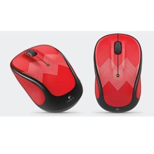 Logitech M325c Wireless Mouse, Red ZigZag
