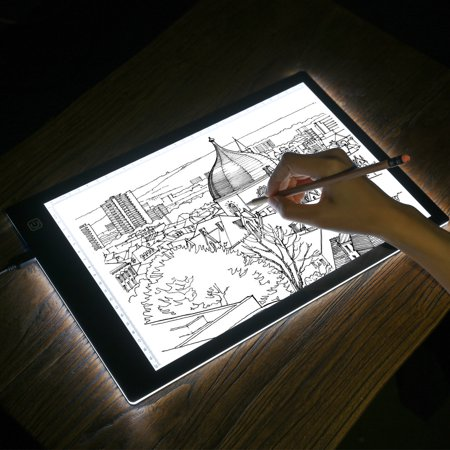 Kohree A4 LED Tracing Light Box Dimmable Tracer Portable Artist Drawing Board USB Power Cable Artcraft Tracing Light