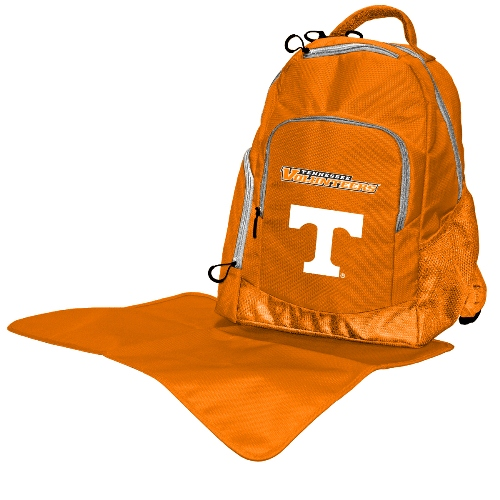 NCAA Diaper Bag by Lil Fan, Backpack Style - Tennessee Volunteers
