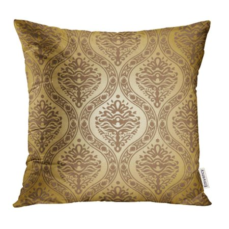 EREHome Antique Damask Baroque Black Carpet Curl Curve Dark Elegance Pillowcase Cushion Cover 18x18 inch - image 1 de 1