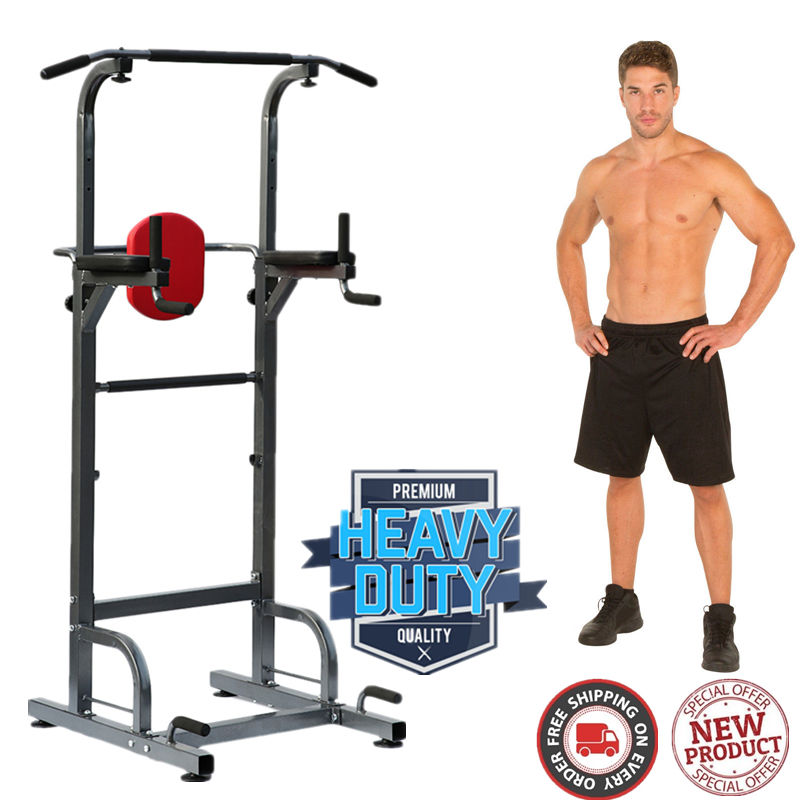 pull up dip station,Heavy Duty Dip Station Power Tower Pull Push Chin Up Bar Home Gym Fitness Core by willingboy