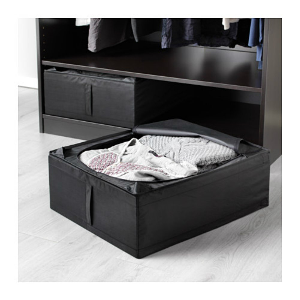 Skubb Underbed Storage Box, Black, 2 Pack By IKEA Ship from US