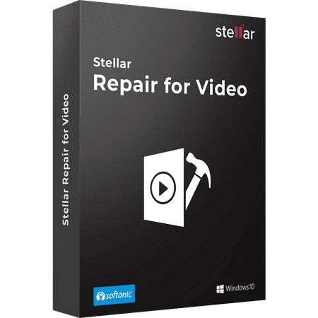 Stellar Repair For Video Software | For Windows | Standard | Repair Corrupt or Damaged Videos | 1 Device, 1 Yr Subscription | CD ()