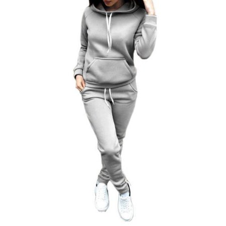 Jesus Womens Tracksuit (Sweetsmile Women Autumn Winter Long Sleeve Hoodies Sweatshirts Suit 2PCS Casual Tracksuit Pullover Tops+ Pants Sports Sets Clearance)