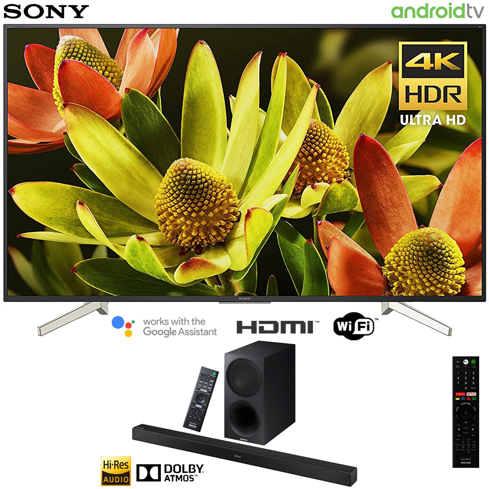 "Sony 70"" Class 4K Ultra HD (2160P) HDR Android Smart LED TV (XBR70X830F) with Sony HTX9000F 2.1ch Soundbar with Dolby Atmos"