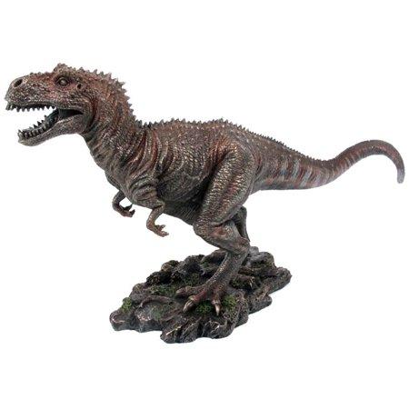 10.38 Inch Tyrannosaurus Rex Dinosaur Cold Cast Bronze Figurine