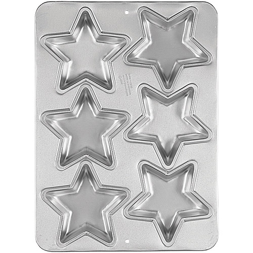 Wilton 6-Cavity Cake Pan, Mini Star 2105-1235