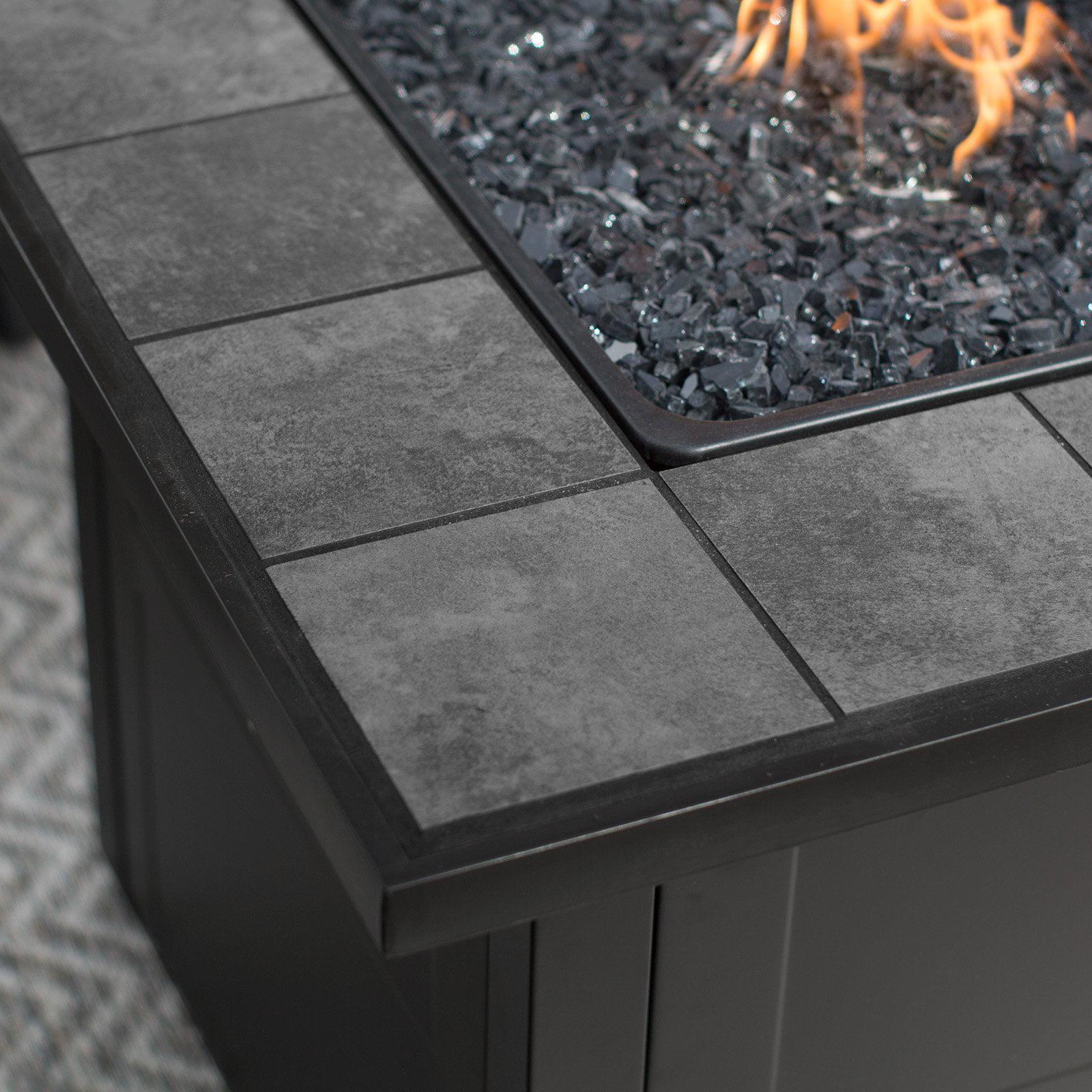 Uniflame Lp Gas Ceramic Tile Fire Pit Table Walmart