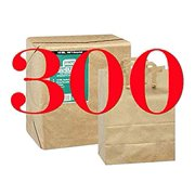 Paper Retail Grocery Bags Kraft with Handles 12x7x17 by Duro (Pack of 300)