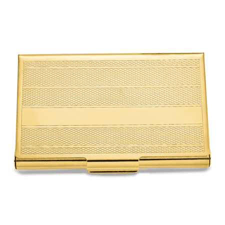 Gold-tone Brass Business Card Case