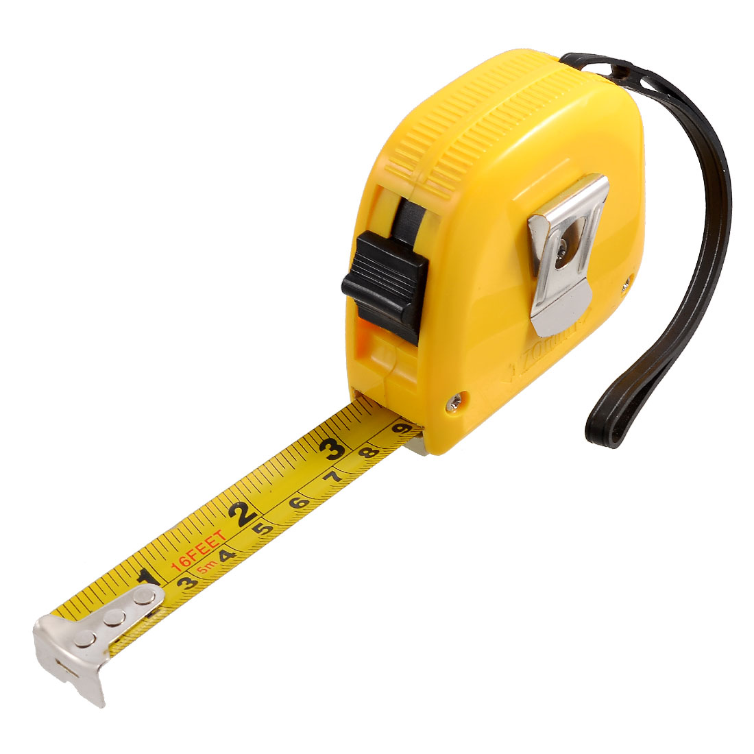 Unique Bargains 16-Foot Retractable Inch/Metric Steel Tape Measure w Hand Strap