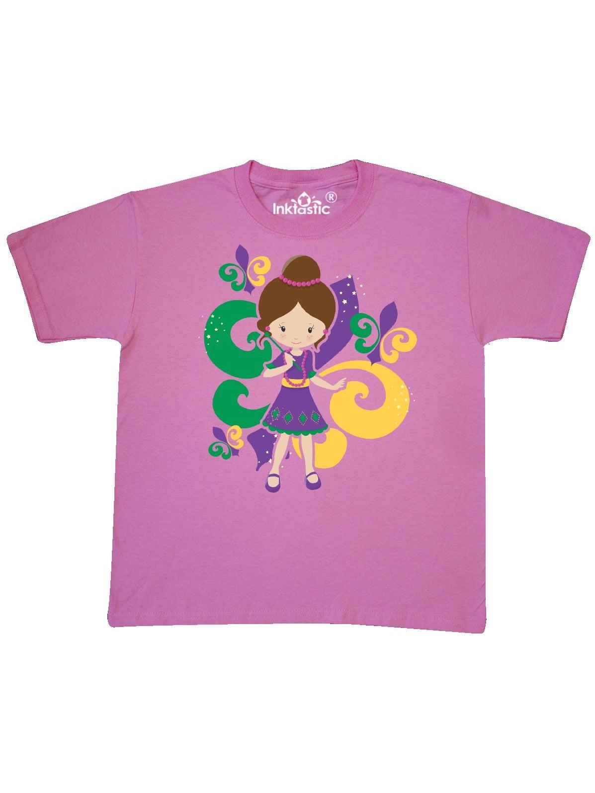 Mardi Gras Girl Youth T-Shirt