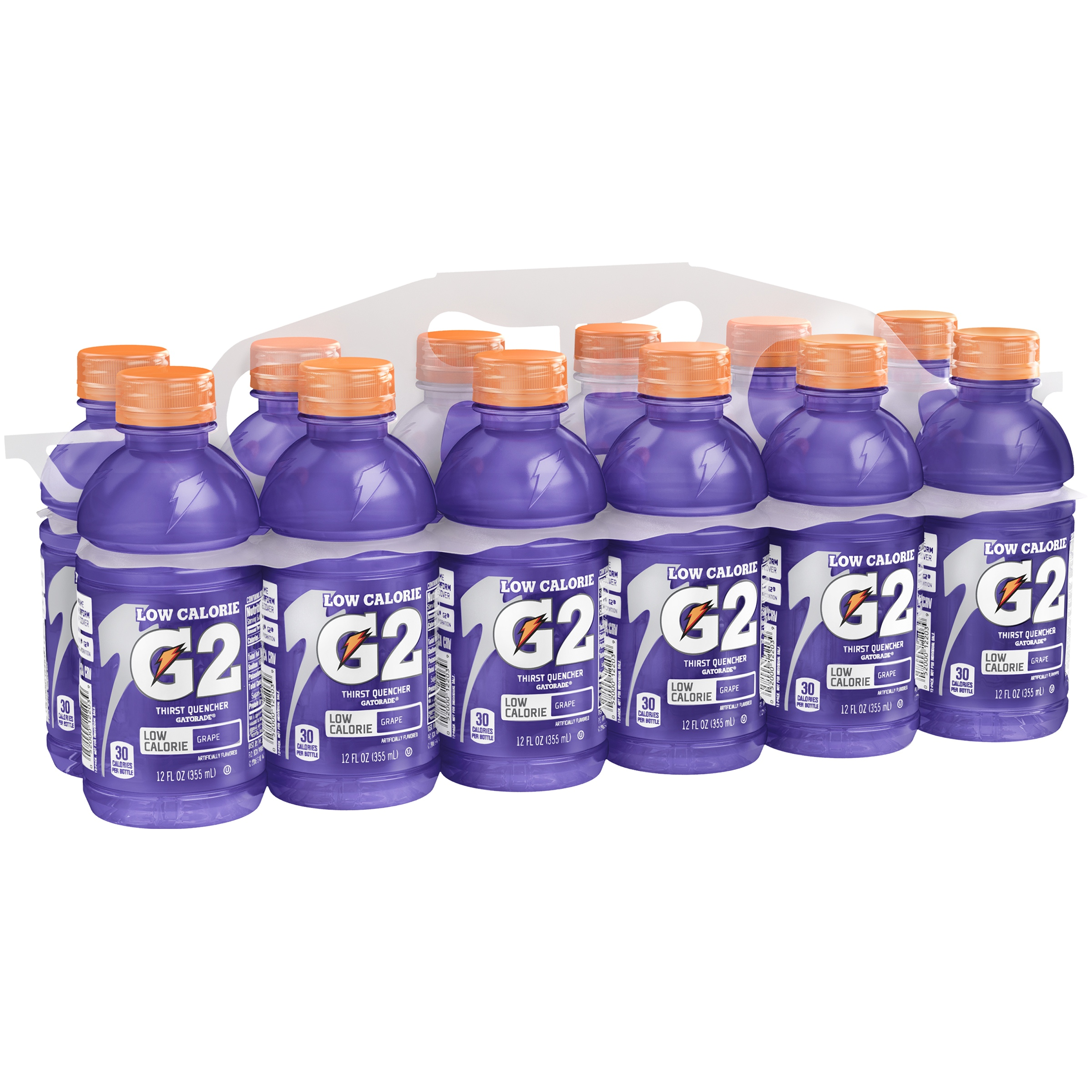 Gatorade G2 Thirst Quencher Low Calorie Sports Drink, Grape, 12 Fl Oz, 12 Ct