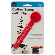 2-in-1 Multifunction Tablespoon Coffee Ground Measuring Scoop with Bag Sealing Clip