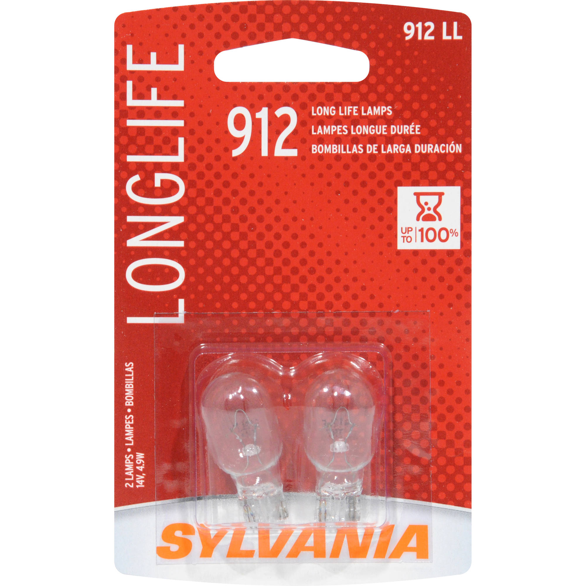 Sylvania 912 Long-Life Miniature Bulb, Twin Pack