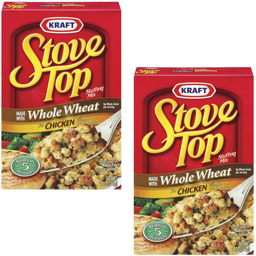 Kraft: Made With Whole Wheat For Chicken With Real Chicken Broth Stove Top Stuffing Mix, 5 Oz (Pack of 2)