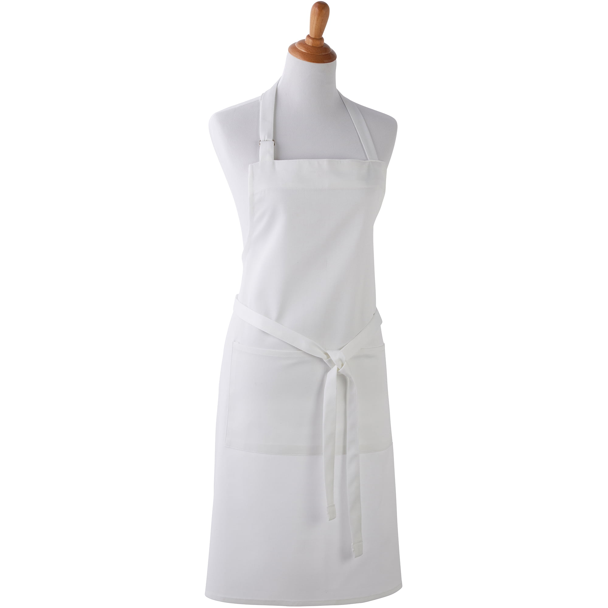 White Kitchen Apron mainstays apron, white - walmart
