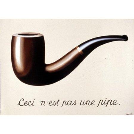 La Trahison Des Images 1929 Poster Print by Rene Magritte (14 x (Magritte Modern Poster)