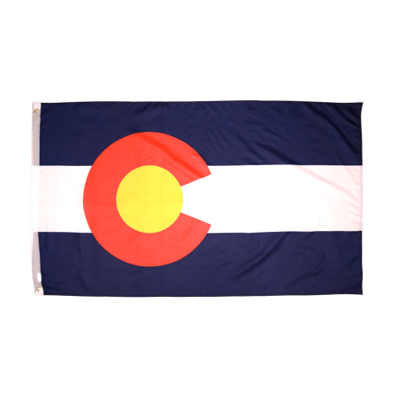 Appliqued Polyester State Flags - 3x5 Foot Colorado Flag Double Stitched Colorado State Flag with Brass Grommets | 3 by 5 Foot Premium Indoor Outdoor Polyester Banner
