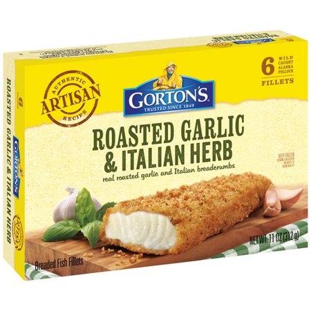 Gorton 39 s garlic herb crunchy breaded 6 ct fish fillets for Gortons fish sticks