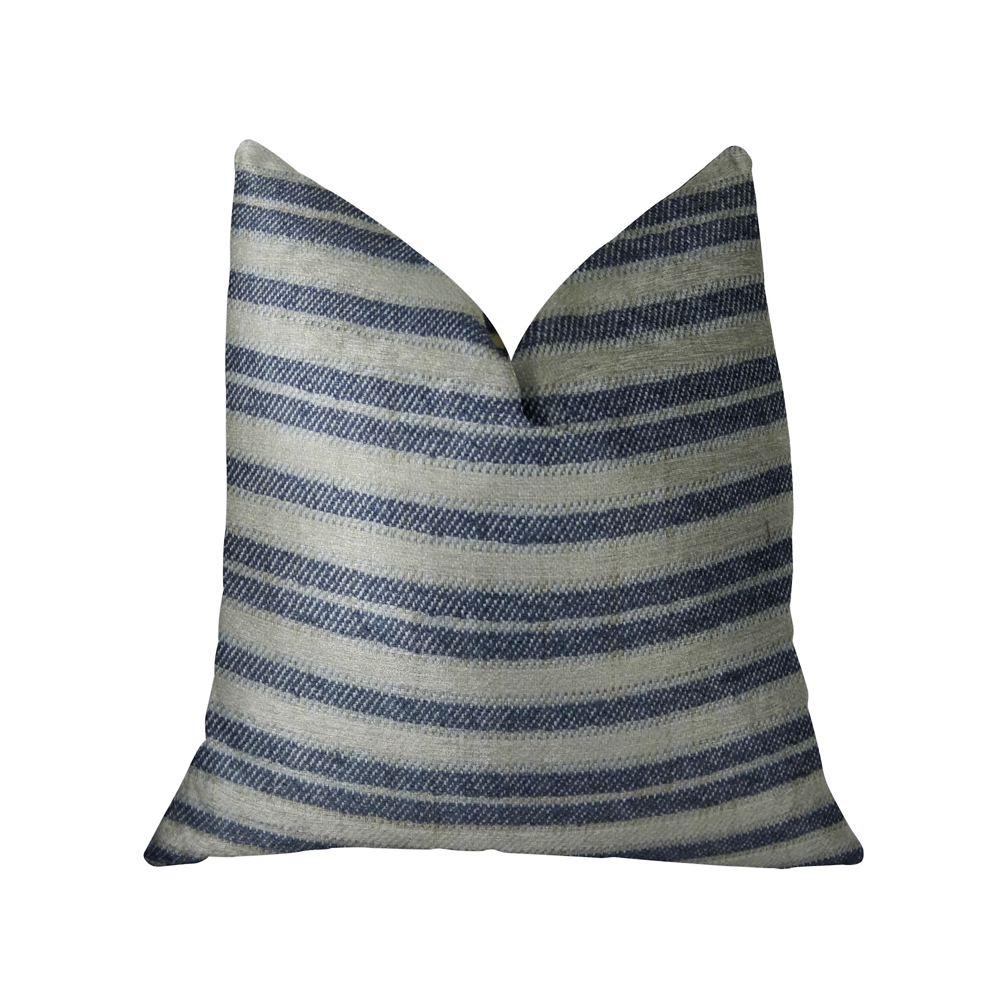 Plutus Stone Manor Indigo Handmade Throw Pillow, Double Sided