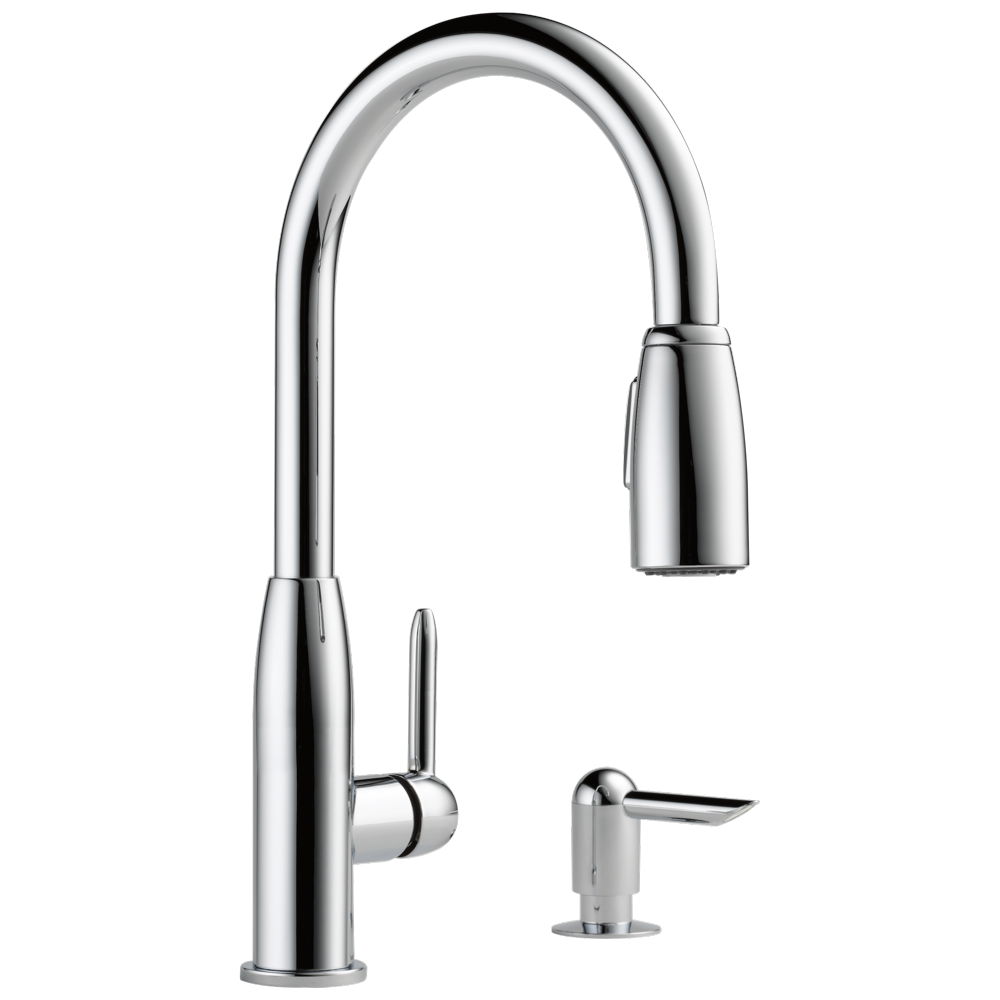 Peerless Core Kitchen Single Handle Pull-Down Faucet in Chrome P88103LF-SD-L