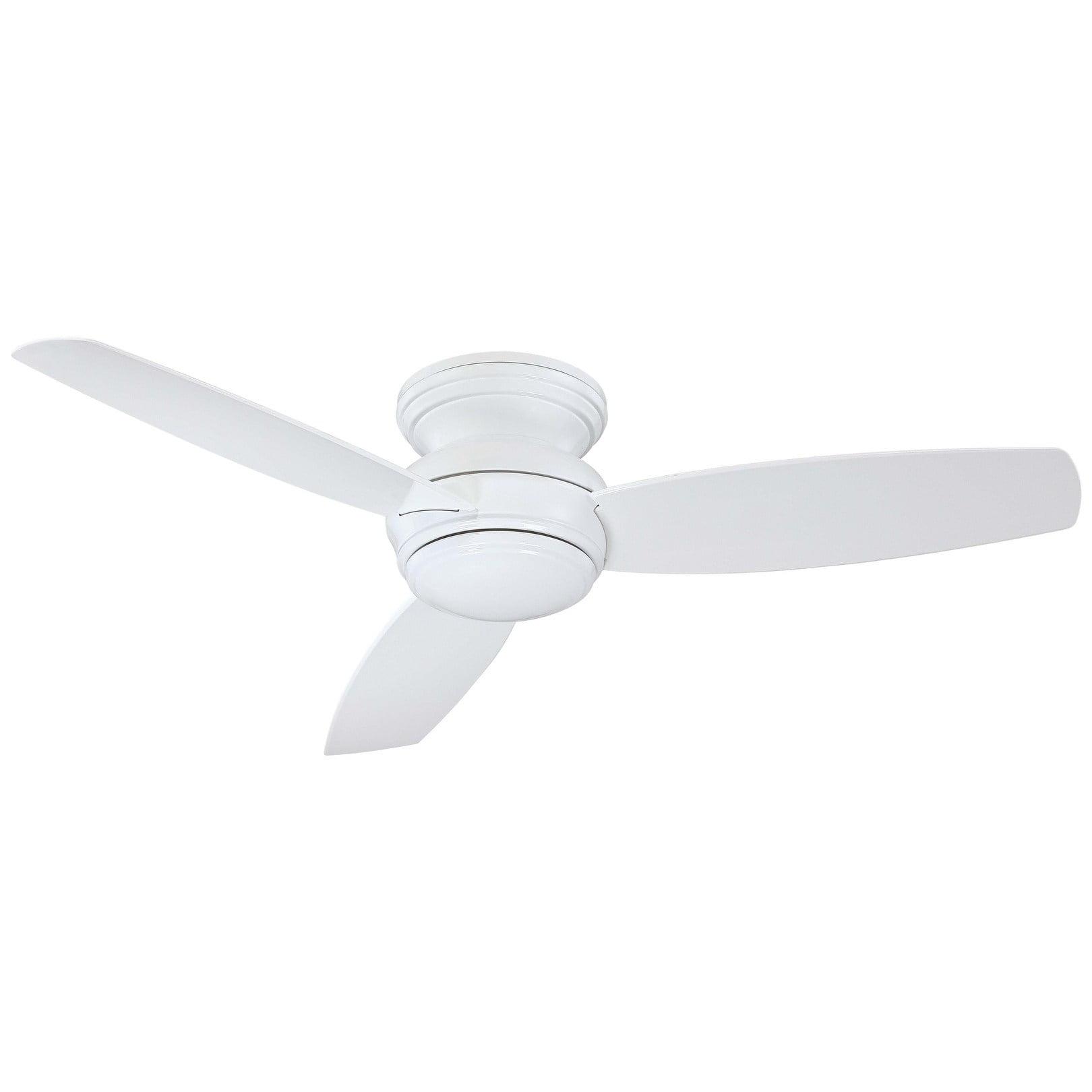 "Minka Aire F594L-Wh 52"" Led Flush Mount Ceiling Fan In White"