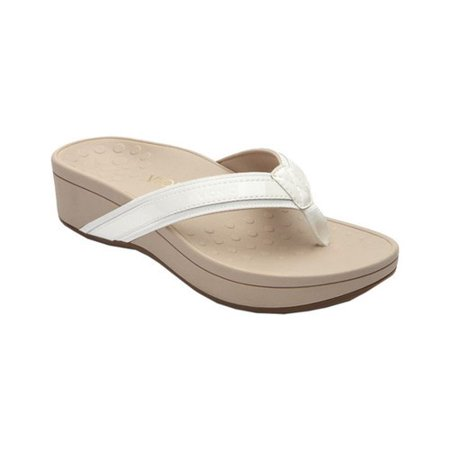 c5e1e241faf Vionic - Vionic Women s Pacific High Tide Toepost Sandals - Ladies Mid Heel Flip  Flops with Concealed Orthotic Support - White 5M - Walmart.com