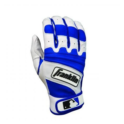 Franklin The Natural II Series Youth Batting Gloves - Pearl/Royal