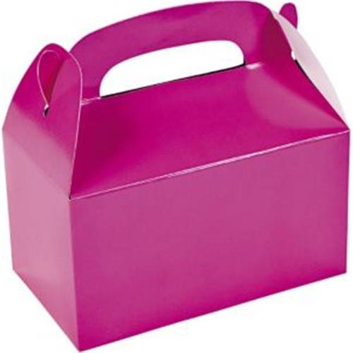 Hot Pink Treat Favor Boxes (6 Pack) - Party Supplies - Hot Pink Party Supplies