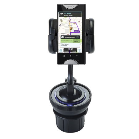 Unique Auto Cupholder And Suction Windshield Dual Purpose Mounting System For Kyocera Echo   Flexible Holder System Includes Two Mount Options