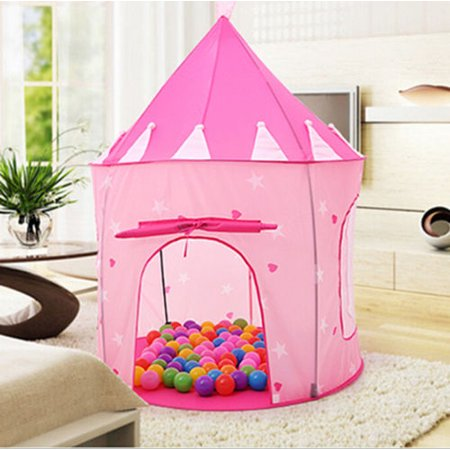 children pop up play tent kids girls princess castle. Black Bedroom Furniture Sets. Home Design Ideas