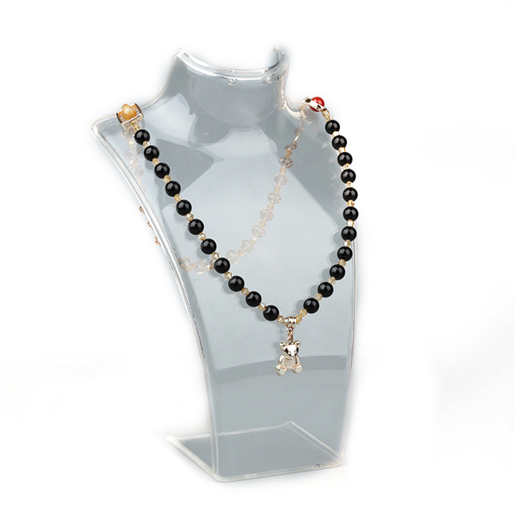 Jewelry Display Stand Mannequin Necklace Pendant Chain Display Bust Holder
