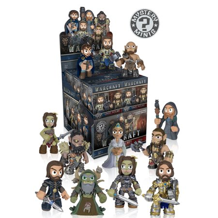 Mystery Mini  Warcraft Movie   One Mystery Figure Action Figure     By Funko Ship From Us