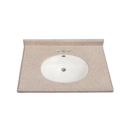 Phenomenal Satin Stone 31 Single Bathroom Vanity Top Walmart Com Home Interior And Landscaping Ologienasavecom