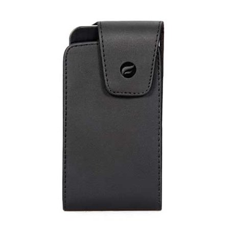 Premium Black Leather Case Cover Protective Pouch Holster Swivel Belt Clip Q3X for Nokia Lumia Icon - Pantech Perception - Samsung Galaxy J3 V, S3 S4 Active