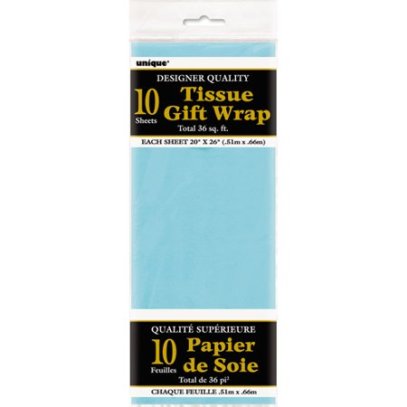 Tissue Paper Sheets, 26 x 20 in, Baby Blue, 10ct