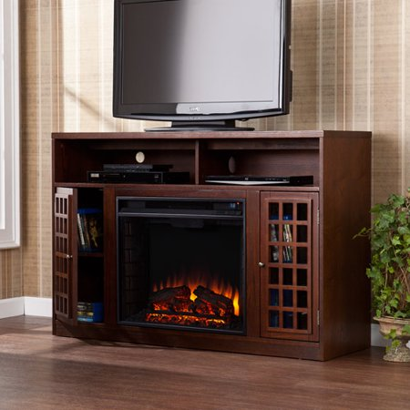 Southern Enterprises Chenault Electric Fireplace and Media Console for TVs up to 46;, Espresso