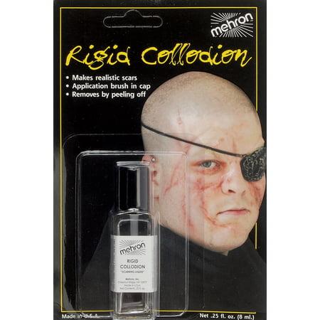 Mehron Zombie Rigid Collodion Scarring .125oz FX Liquid, - Halloween Scars Liquid Latex