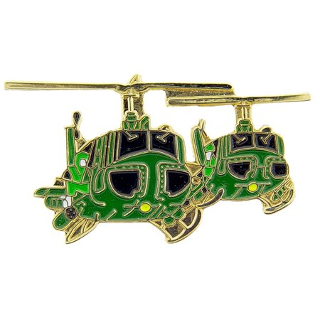 UH-1 Huey Two Helicopters Pin 1 1/2