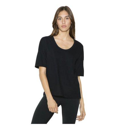 417fa0610e9db American Apparel - American Apparel T-Shirts Women's Power Wash Deep U-Neck  T-Shirt RSA2320W - Walmart.com