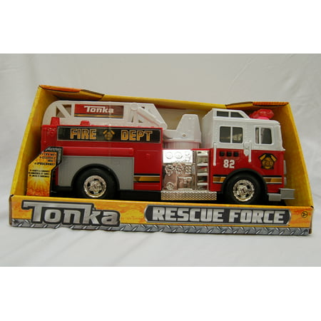 Watch Fire Truck (Tonka Rescue Force Lights and Sounds 12-inch Ladder Truck - Fire Dept 82 )