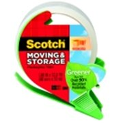 Scotch 1.88 in. x 32.8 Yard Greener Moving And Storage Tape With Dispenser, Clear