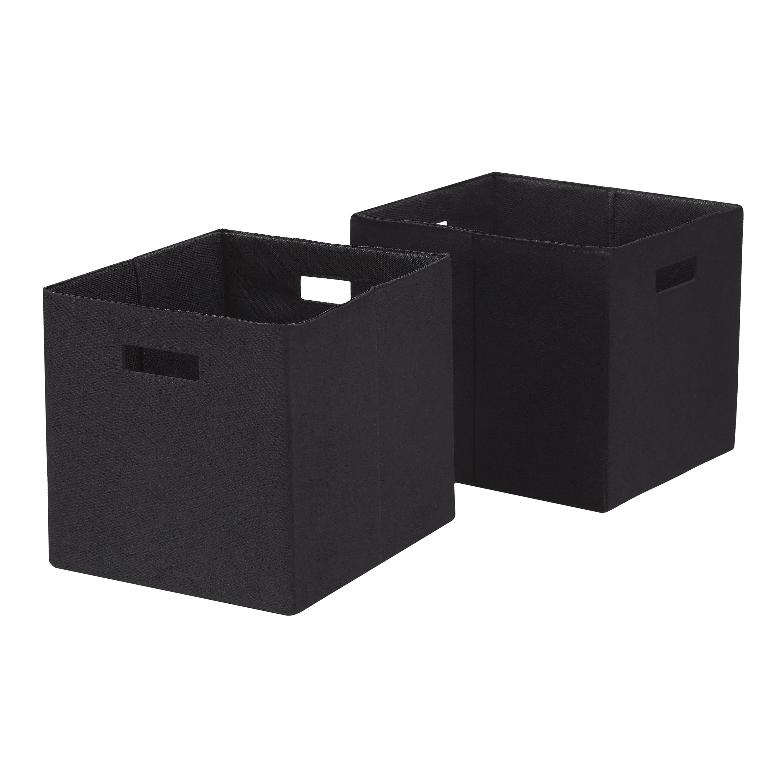 12.75-in W x 12.75-in H x 12.75-in D Gray Fabric Bin Decorative Storage