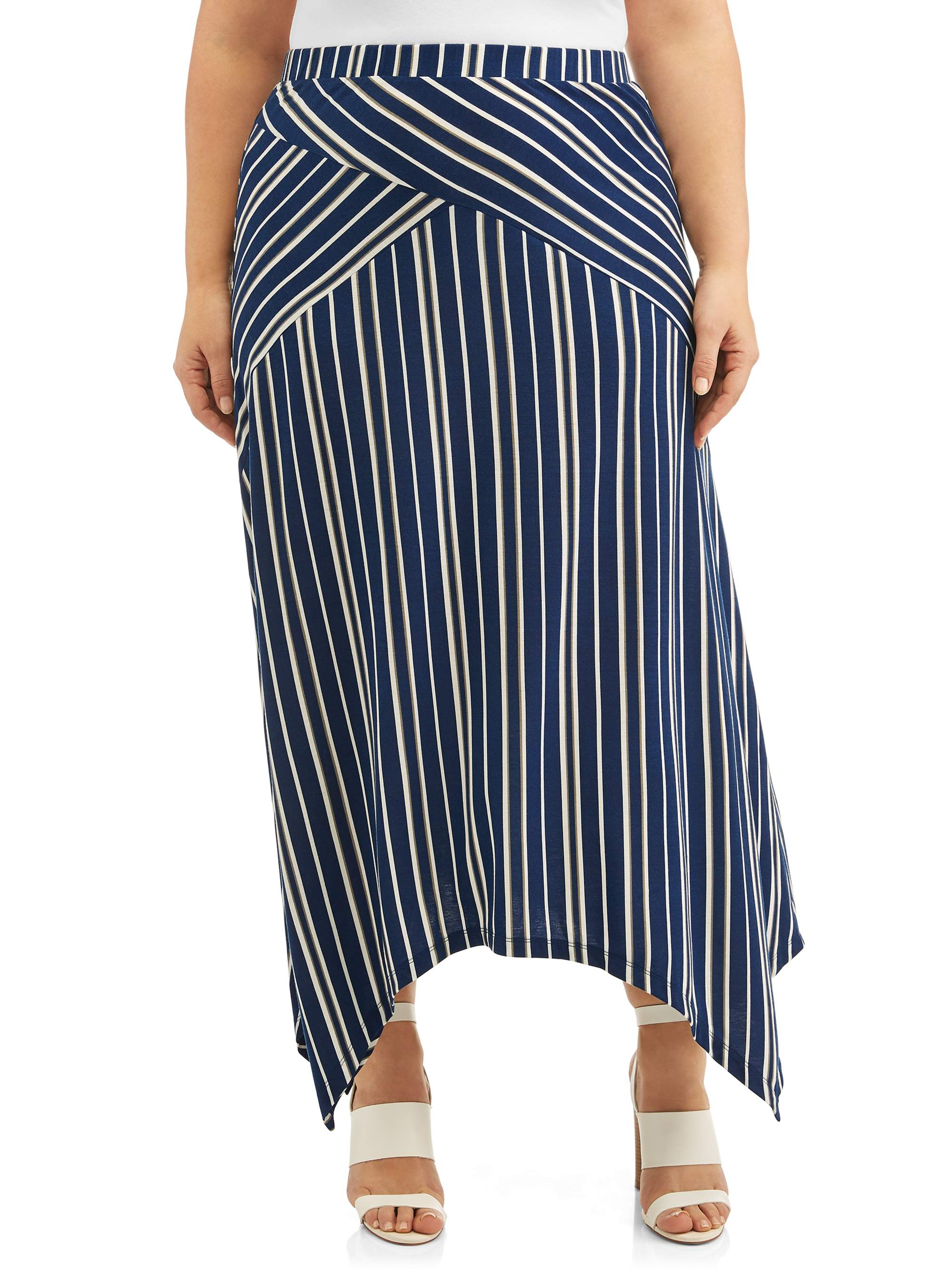 Women's Plus Size Assymetrical Skirt