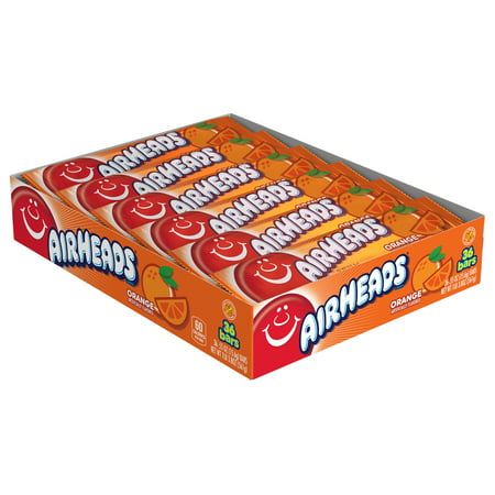Airheads Candy Individually Wrapped Bars, Orange, 0.55 Ounce (Bulk Pack of - Orange Wrapper Halloween Candy